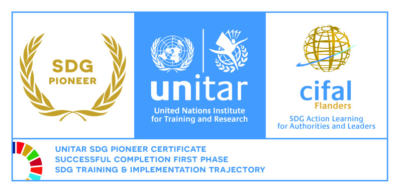 United Nations SDG Pioneer certificate